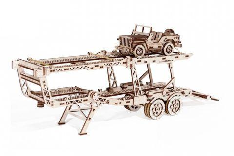 model mechanické puzzle príves ku kamiónu